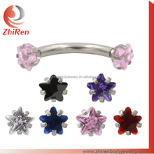 star cz eyebrow Jewelry Piercing Jewelry eyebrow Rings