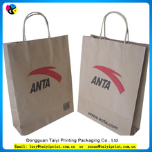Customized printed shoe kraft paper bag with high quality