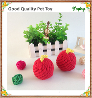 Apple shaped cotton rope with private label for dog toy