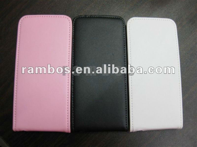 Brand New Genuine Flip Real Leather Back Case Cover for Apple iPhone 5 5G