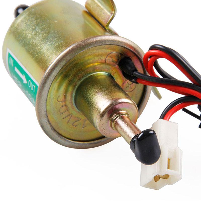 12V Electric Fuel Oil Pump 3-6 PSI Pressure Universal for Car Truck Boat HEP-02A