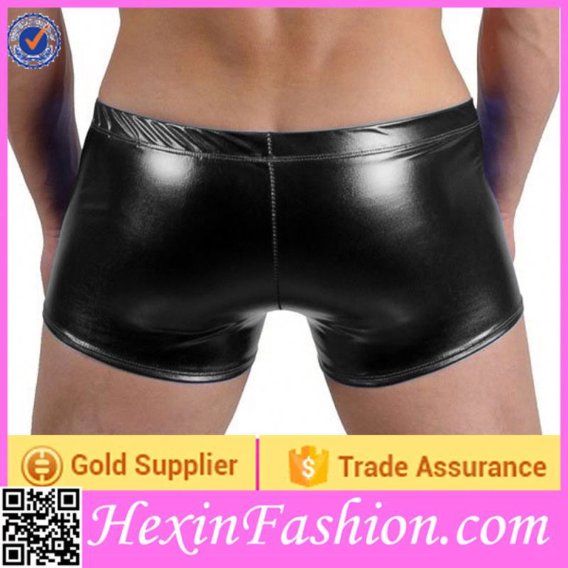 Black Latex Panties for Men