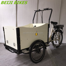 Dutch style Aluminium alloy frame family cargo electric tricycle for disabled