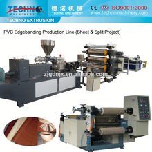 High efficiency PVC furniture edge banding sheet extrusion production line/making machine