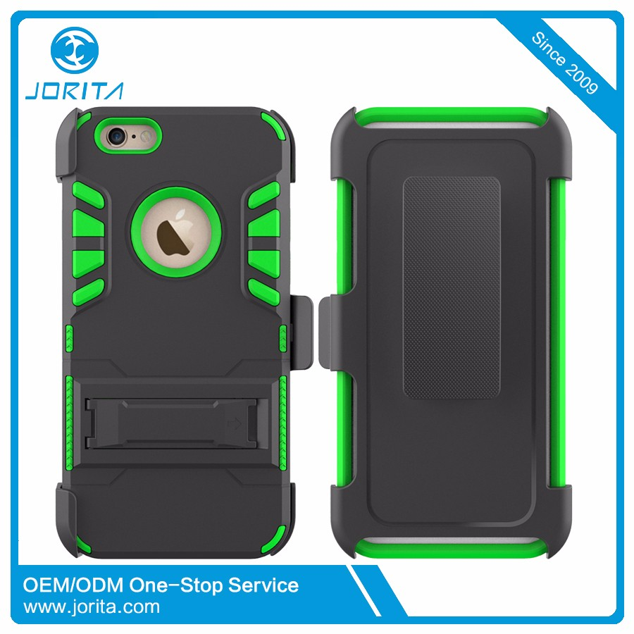 Anti-Shock TPU PC Heavy Duty Phone Case With Stand Holder For Iphone 7