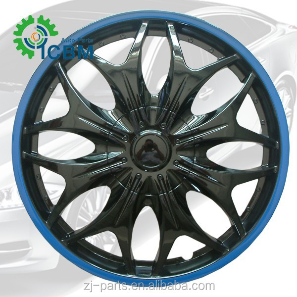 ABS Material and BLACK/BLUE Finishing hub cap