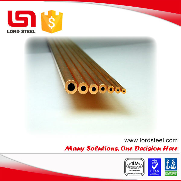 copper micro seamless tube C44300 C70600 copper capillary tubes