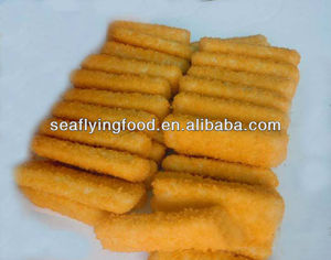 bread fish finger with pollock fish mince