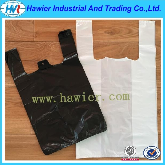 Street marks T-shirt type plastic shopping bag