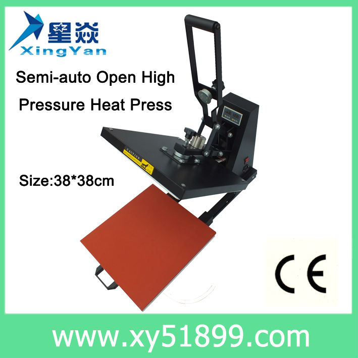 38*38CM heat transfer machine t shirt printing machine manual plain heat press machine