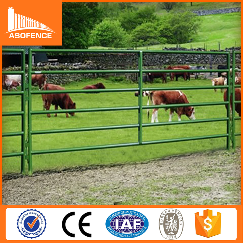 32*2mm welded heavy duty round rails cattle fence panel