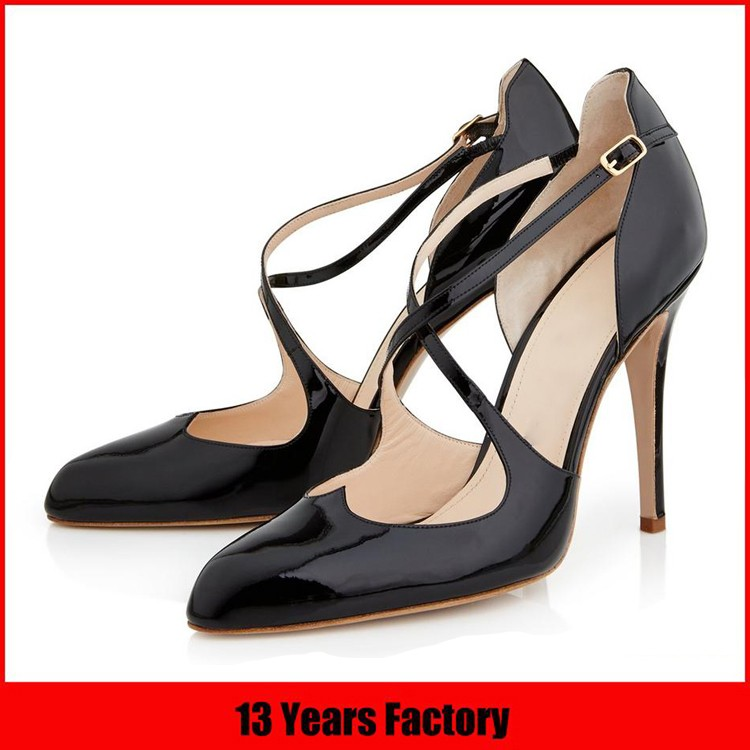 Wholesale dress shoe leather chunky heel shoe woman casual sandal shoe manufacturer