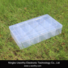 15 Grids Clear Plastic Adjustable Removable Dividers Transparent Holding Container Case