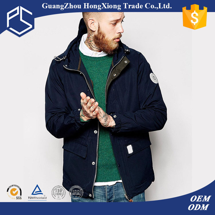 2016 latest design China Factory OEM Navy Blue Embroidery Warmer Winter Sports Men motorbike cordura jacket