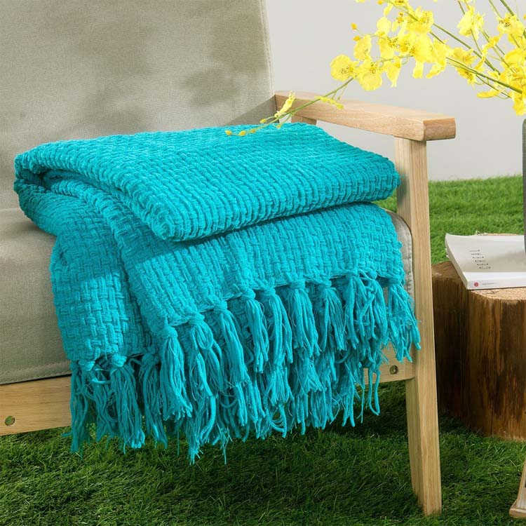 china factory knitted soft blanket scarf