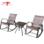 Outdoor Resin Wicker Rocking Chair Set Swivel Rocker Patio Chairs For Sale