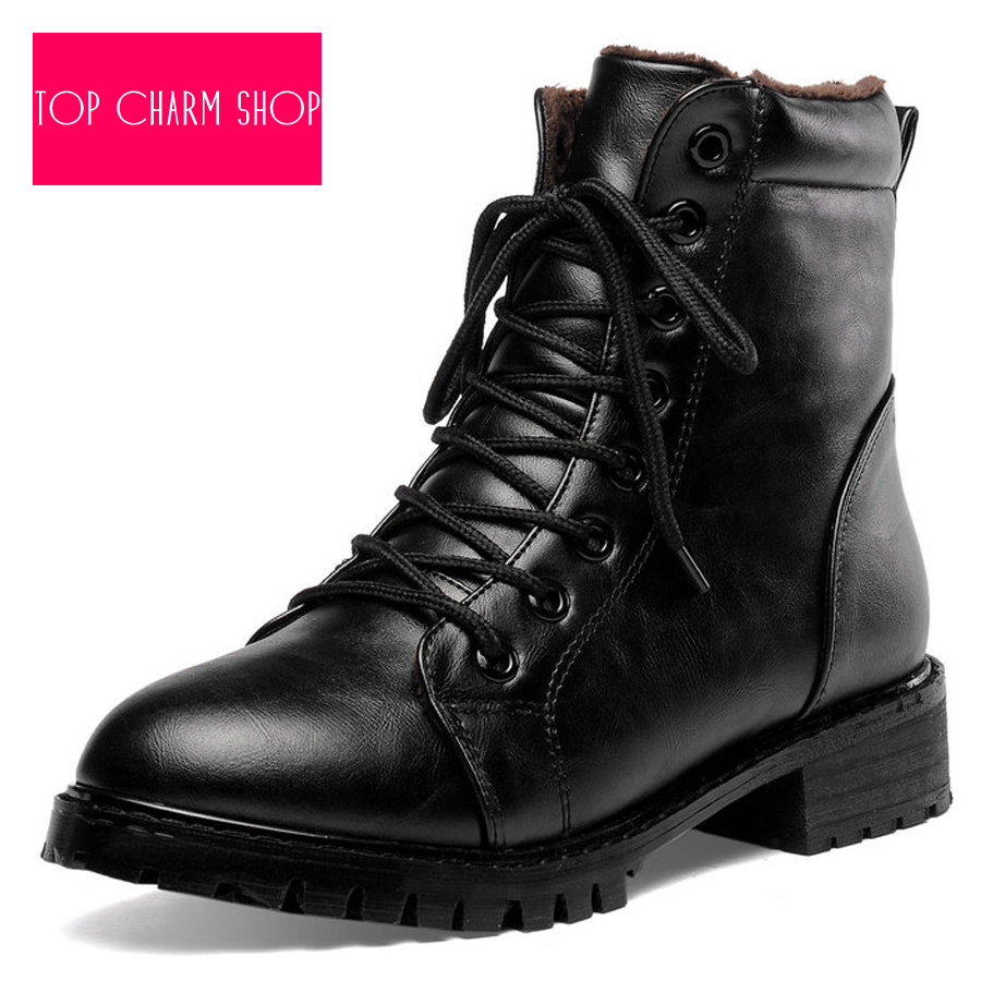 Fashion Women Motorcycle Boots Ladies Vintage Rivet Combat Army Punk Goth  Ankle Shoes Women Biker Leather 9143fa153