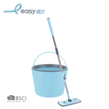 Easy and effortless detachable aluminum cleaning easy wring spin mop bucket handle