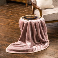 NEW ITEM! COZY! various colors Raschel quality super soft throw blanket -Grey