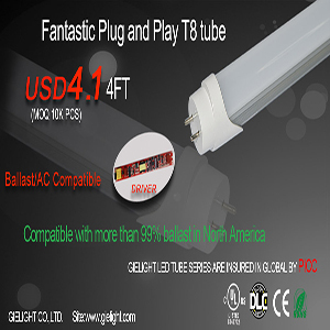 Play And Plug Instant Start Compatible 2ft 3ft 4ft LED T8 UL Led Tube Lights