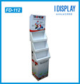 Cheap Folding Food Cardboard Floor Display Stand With Simple Design