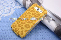 sexy leopard leather wallet flip ladies case for Samsung Galaxy S3 i9300 up to down open korea style