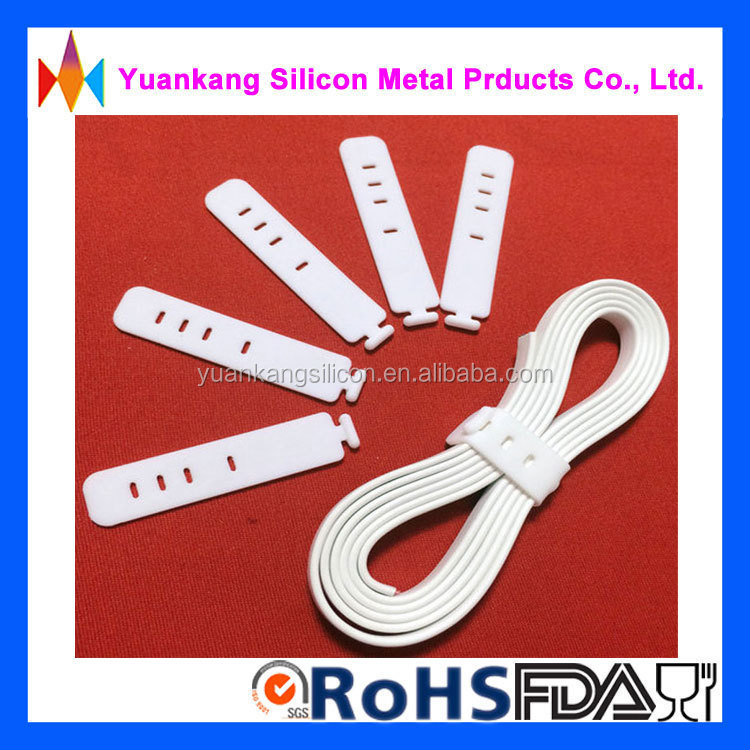 Alibaba wholesale high quality food grade silicone 4 holes small cable <strong>tie</strong>