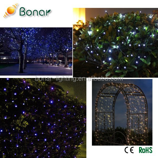 Most Powerful Festival Holiday Garden Park Tree Outdoor Decorative Solar LED Curtain Christmas Lights