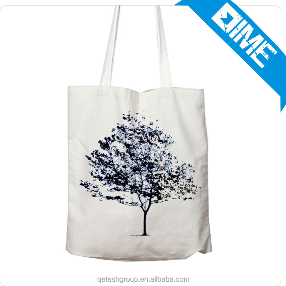 Classic Design Cotton Tote Canvas Bag With Colorful Printing