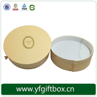 fashion design two layers cookies paper round box tube packaging box