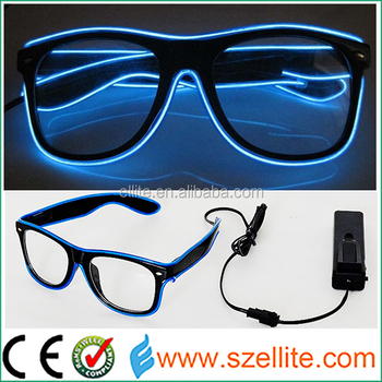 How Cool Flashing Blue EL Lighting Glasses