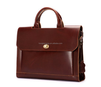 Hot sale laptop leather briefcase ,business leather layer laptop briefcase