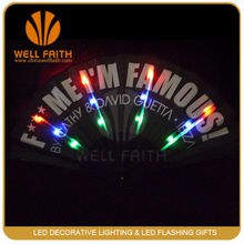 Festival business promotional gifts LED products LED silk fans,creative business branding printing LED flashing hand fans