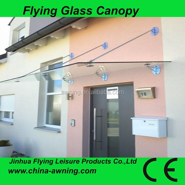 2015 Hot sales plastic or glass canopy awning designs