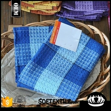 100% cotton double color squares face towel tea towel Soft texture beautiful pure and fresh and wear-resisting