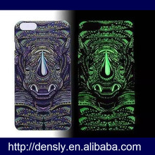 Fluorescence noctilucent hard 3d phone case for iphone 6 plus case ,3d Animal glow case for iphoen 6 plus