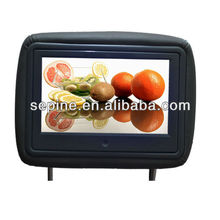 Digital signage ad player headrest/pillow lcd 9'' taxi video advertising player