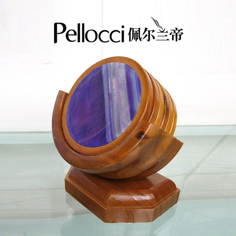 Natural agate slice coaster for decor
