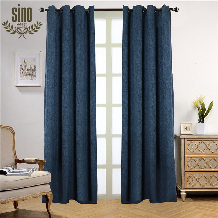 Simple Design Solid Color Linen american style curtain
