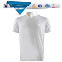 Customized cheap plain white v-neck t shirts manufacturer
