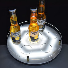 2018 manufacturers new promotion light cocktail serving tray for bar