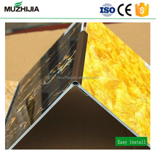4*8 feet 3mm bendable UV coating PVC marble plastic sheet for wall and ceiling panels decoration