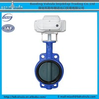 Ductile iron double flange butterfly valve wafer butterfly valve DN40-DN600