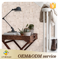 Foshan glass mosaic wall decoration oriental mosaic stepping stone pattern for paving