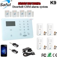 Saful K9 Top in Europe! GSM OEM PSTN Touch Screen Dual-network Alarm System, Smart Home Security Alarm System