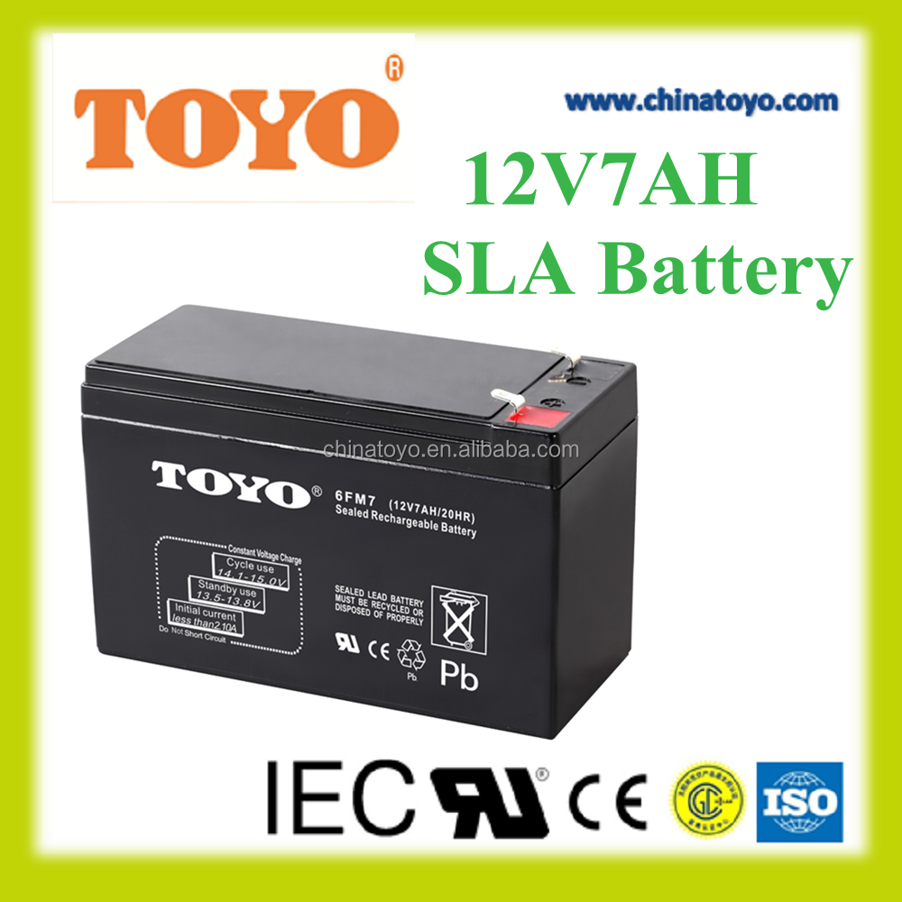 12V7AH sealed lead acid battery rechargeable storage battery