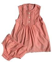 Infant and Toddlers Dress Baby Girls 2Pcs Pink Dress Baby Clothes Sets with Underwear