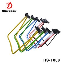 U typed foldable bike display rack show floor garage park wheel fixing stand
