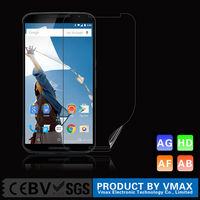 Wholesale Anti-bubble Anti oil HD Clear Smart phone screen protector for Google Nexus 6