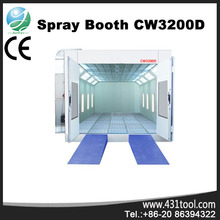 CW3200D furniture spray booth paint booth with intake and exhause fans